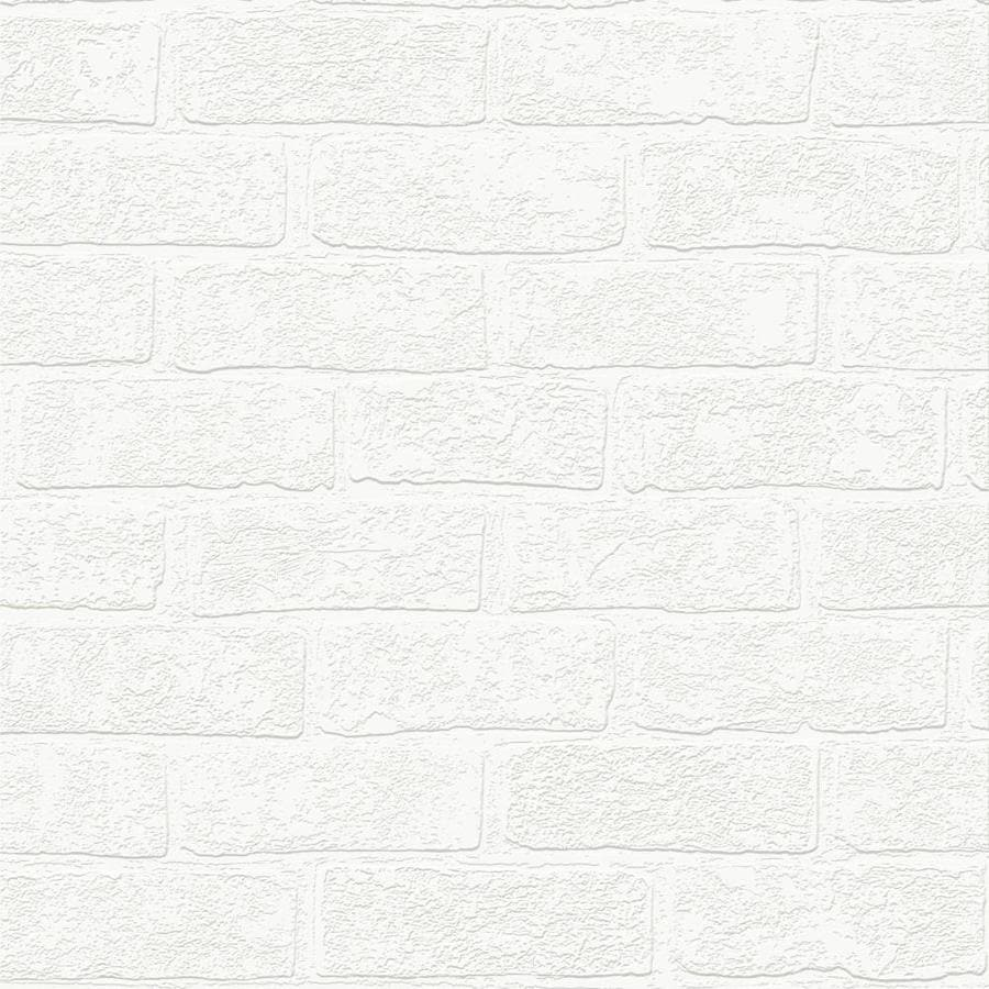 Graham U0026 Brown Eclectic White Vinyl Paintable Textured Brick Wallpaper