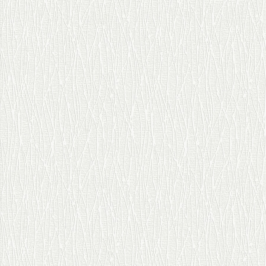 Graham & Brown Eclectic White Vinyl Paintable Textured Abstract Wallpaper