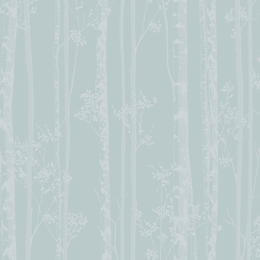 Graham & Brown Pure Blue and White Paper Textured Floral Wallpaper
