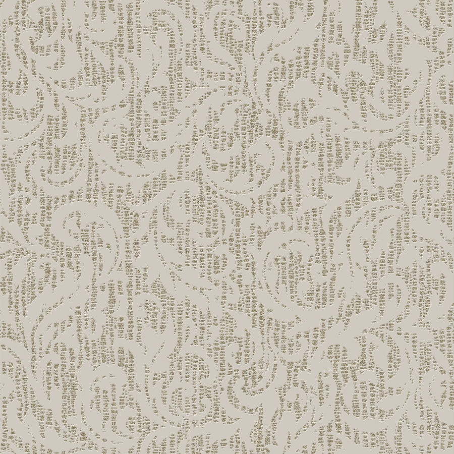 Graham & Brown Surface Cream and Gold Vinyl Textured Damask Wallpaper