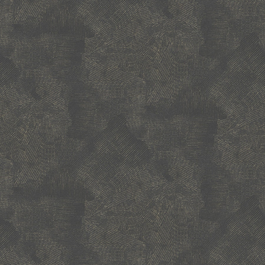 Graham & Brown Surface Black and Gold Vinyl Textured Abstract Wallpaper