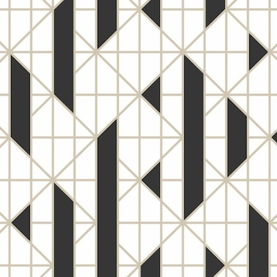Graham Brown 8 In Black White Geometric Vinyl Textured 0 6