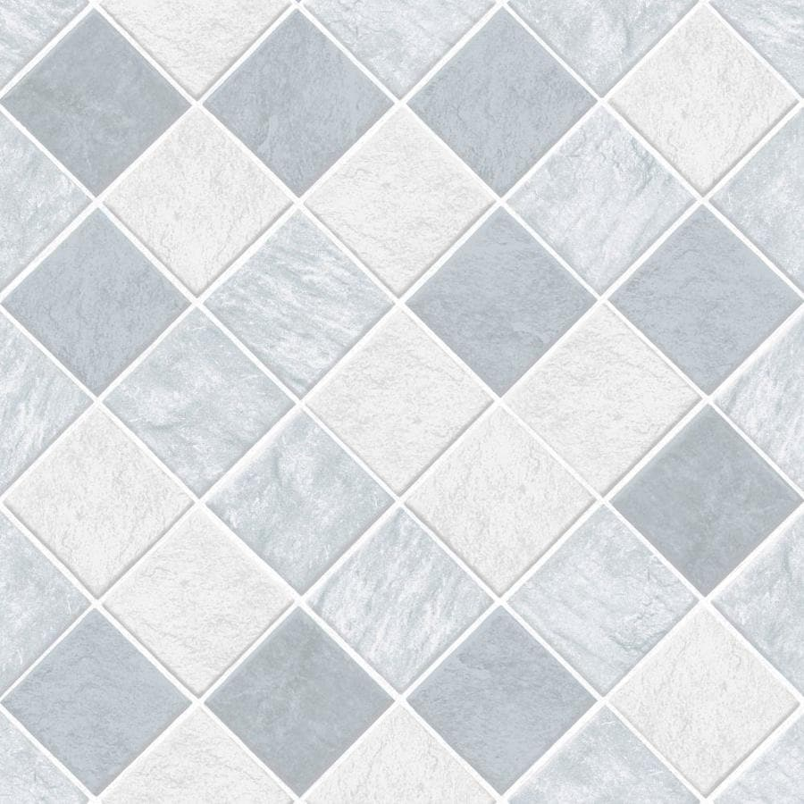 Graham Brown Strata 56 Sq Ft Blue White Vinyl Textured Tile Wallpaper