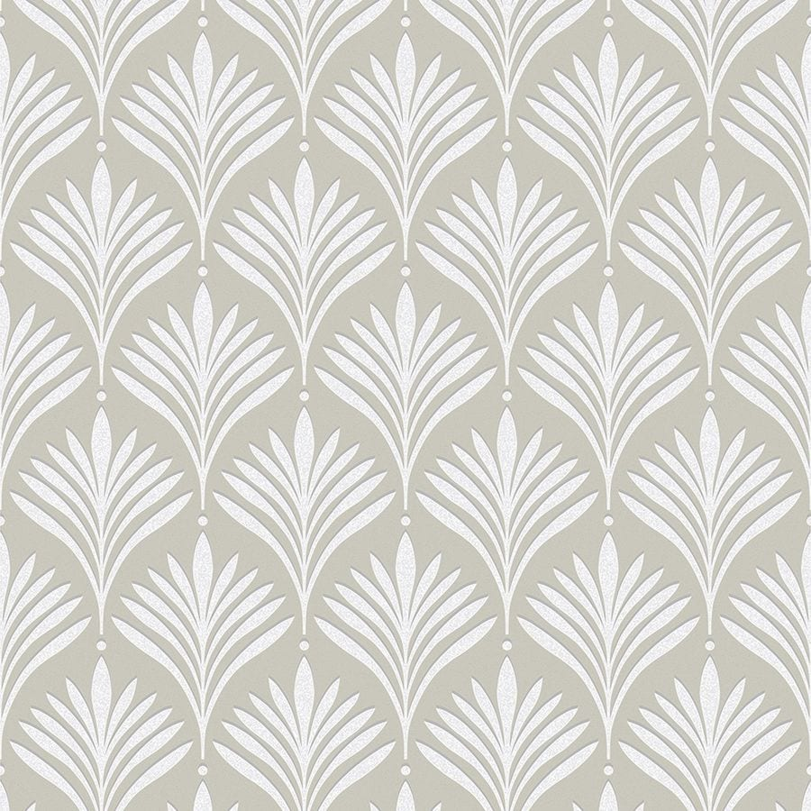 Graham Brown Empress 56 Sq Ft Gold White Vinyl Textured Stripes Wallpaper