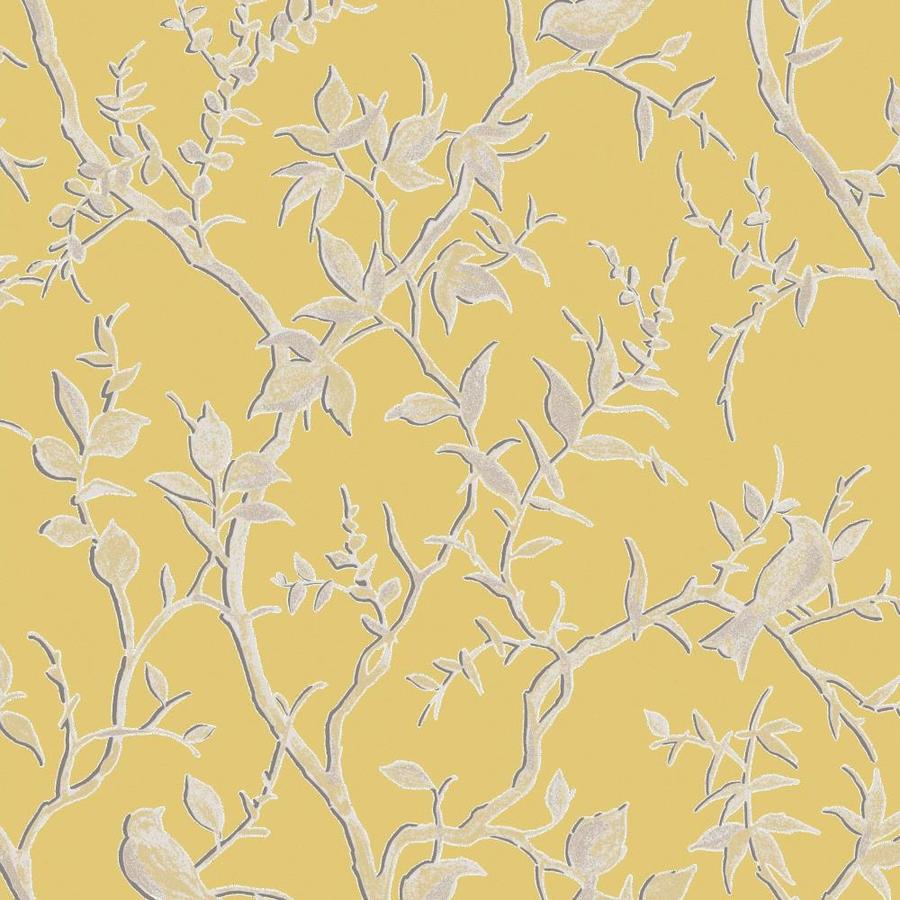 Graham Brown Simplicity 56 Sq Ft Yellow Vinyl Textured Trail Wallpaper