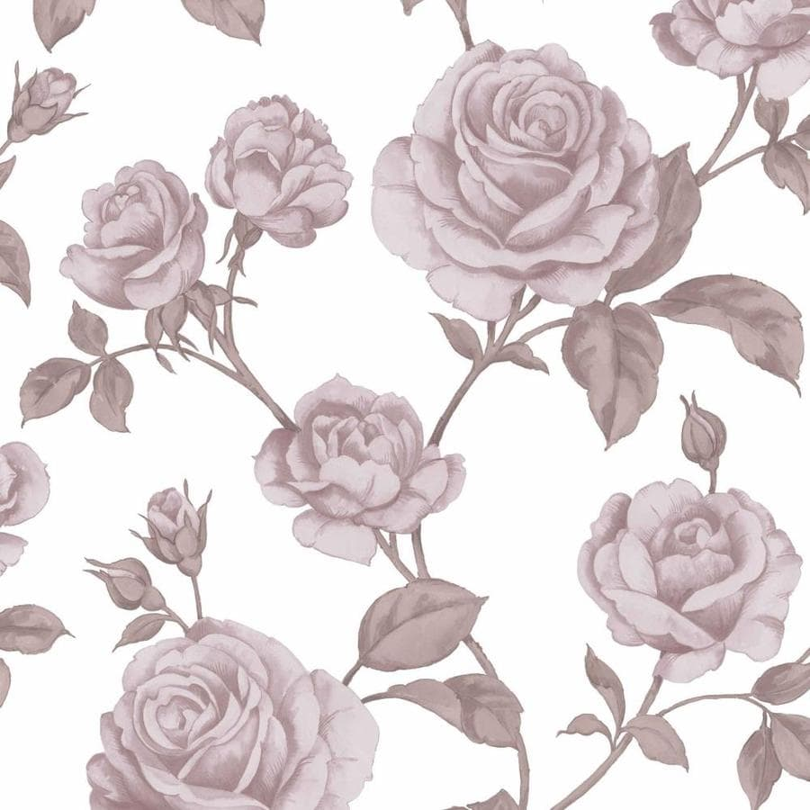 Shop Graham Brown Vermeil 56 Sq Ft Pinkwhite Paper Floral