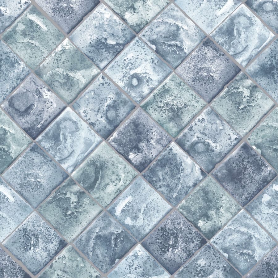 Shop Graham & Brown Strata 56-sq ft Blue Vinyl Textured Tile ...