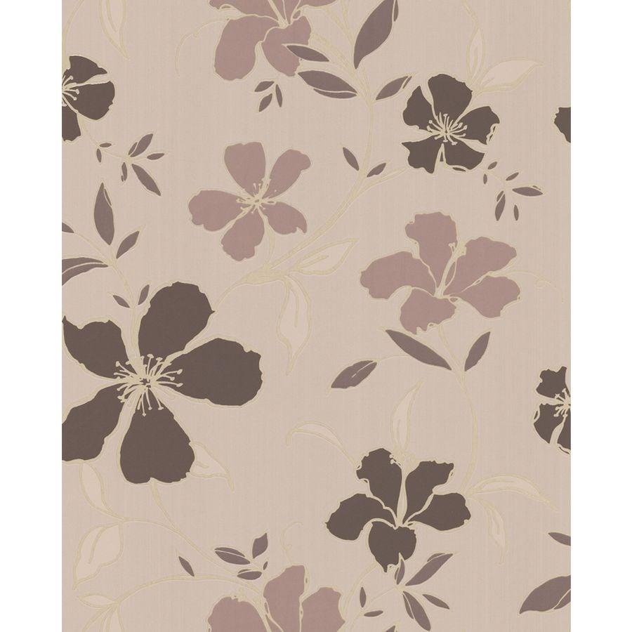 Superfresco Easy Chocolate/Beige Paper Floral Wallpaper
