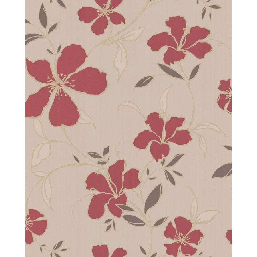 Superfresco Easy Red/Beige Paper Floral Wallpaper