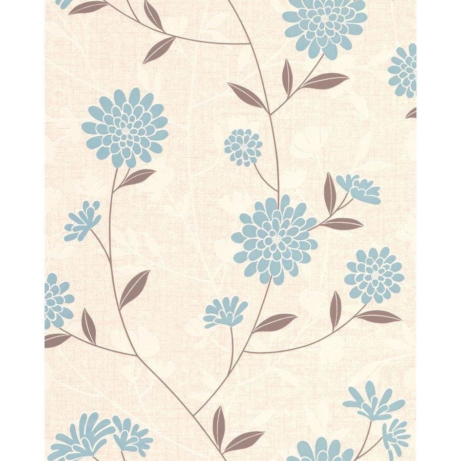 Superfresco Teal/Cream Vinyl Floral Wallpaper