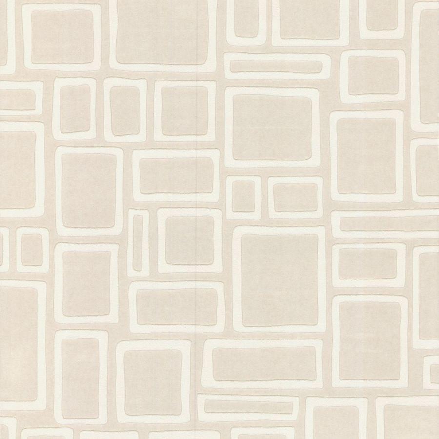Graham & Brown White Vinyl Paintable Geometric Wallpaper