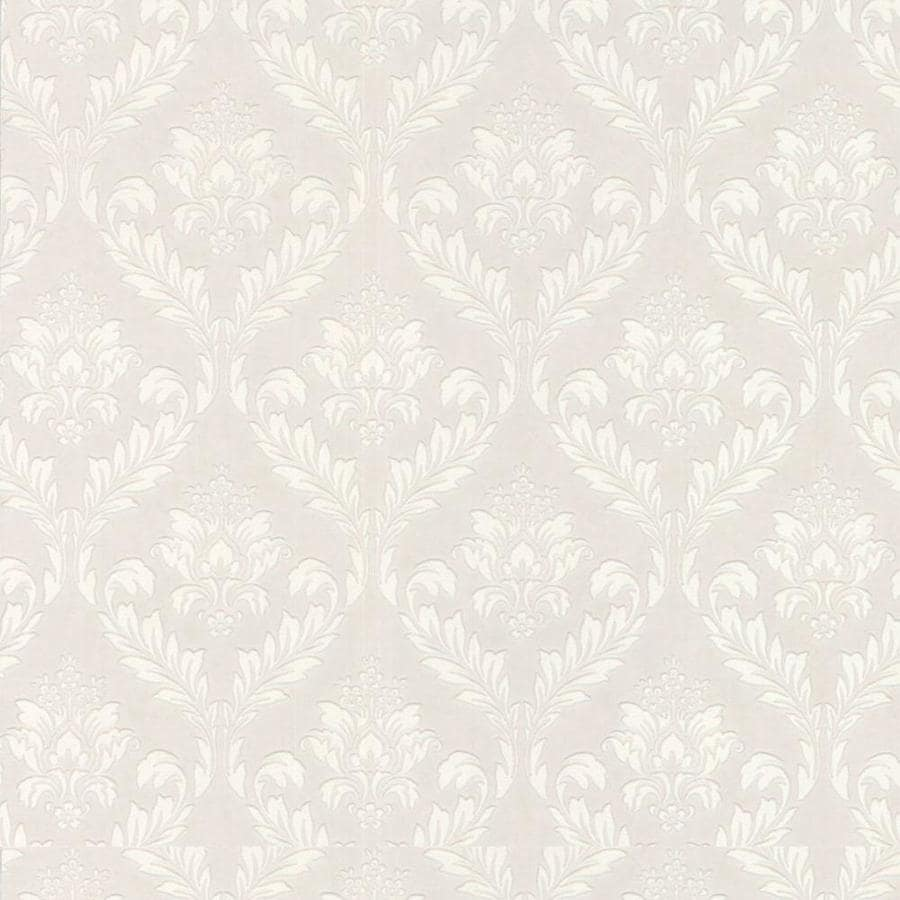 Beau Graham U0026 Brown Eclectic 56 Sq Ft White Vinyl Paintable Textured Damask  Wallpaper