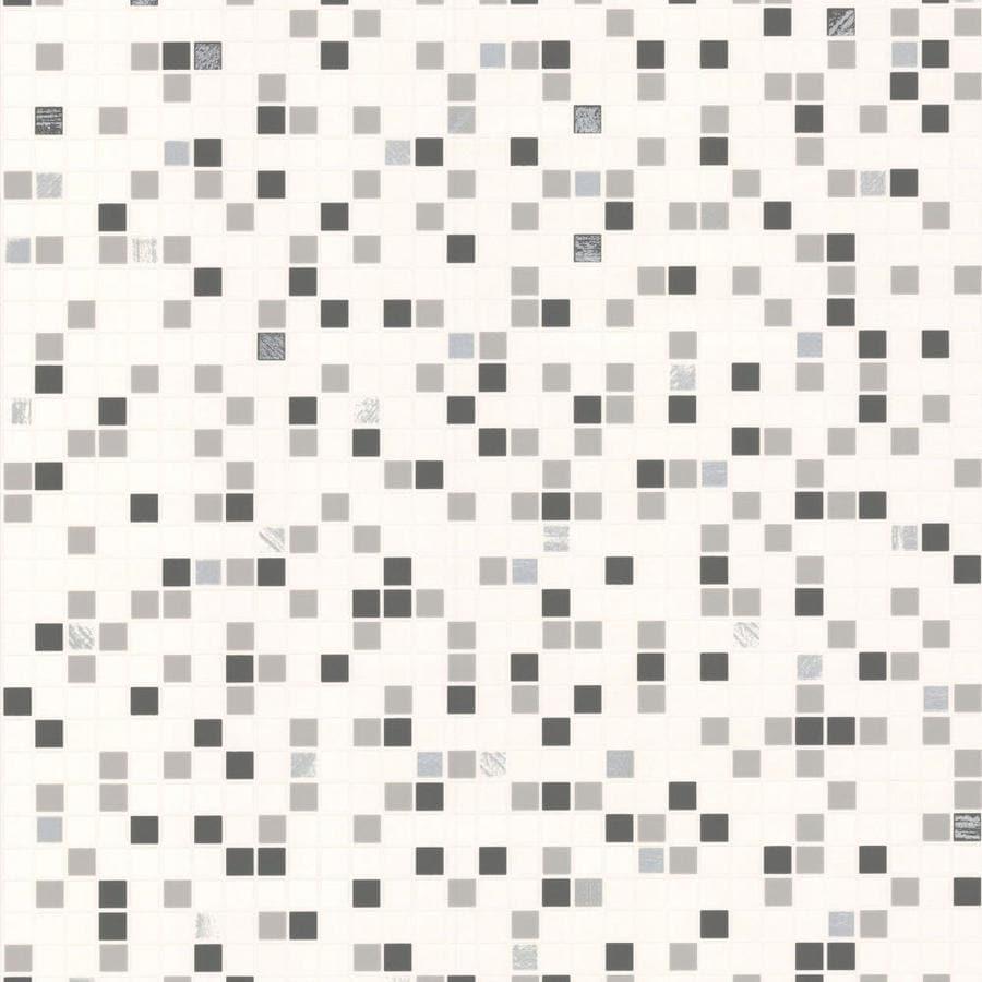 Graham Brown Modern Living 56 Sq Ft Black White Vinyl Textured Tile Wallpaper
