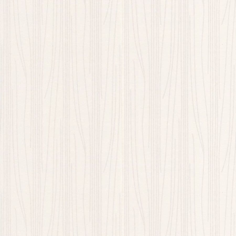 Graham & Brown Eclectic White Vinyl Paintable Textured Stripes Wallpaper