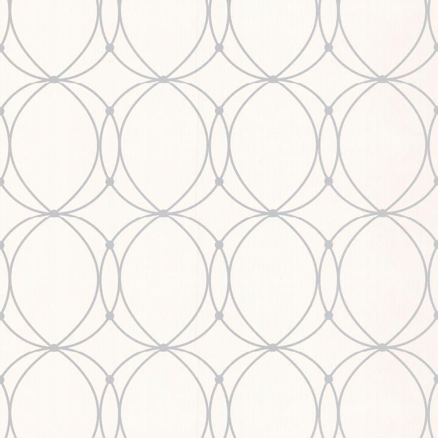 Graham & Brown Mode White/Grey Paper Geometric Wallpaper
