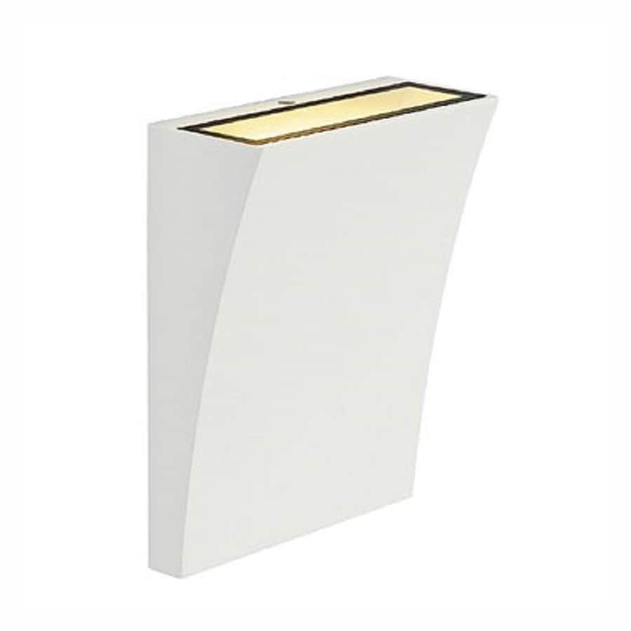 SLV Lighting Delwa 5.5-in W 1-Light White Pocket Wall Sconce