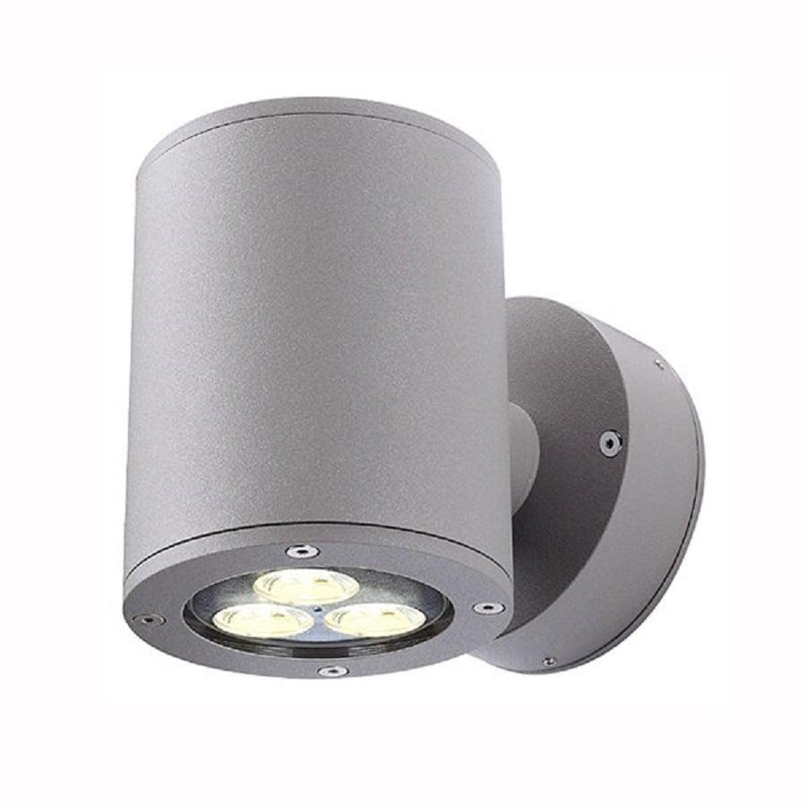 SLV Lighting Sitra 4.9-in H Silver Grey Outdoor Wall Light
