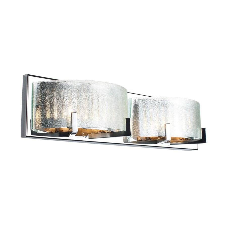 Alternating Current Firefly 2-Light Chrome Drum Vanity Light