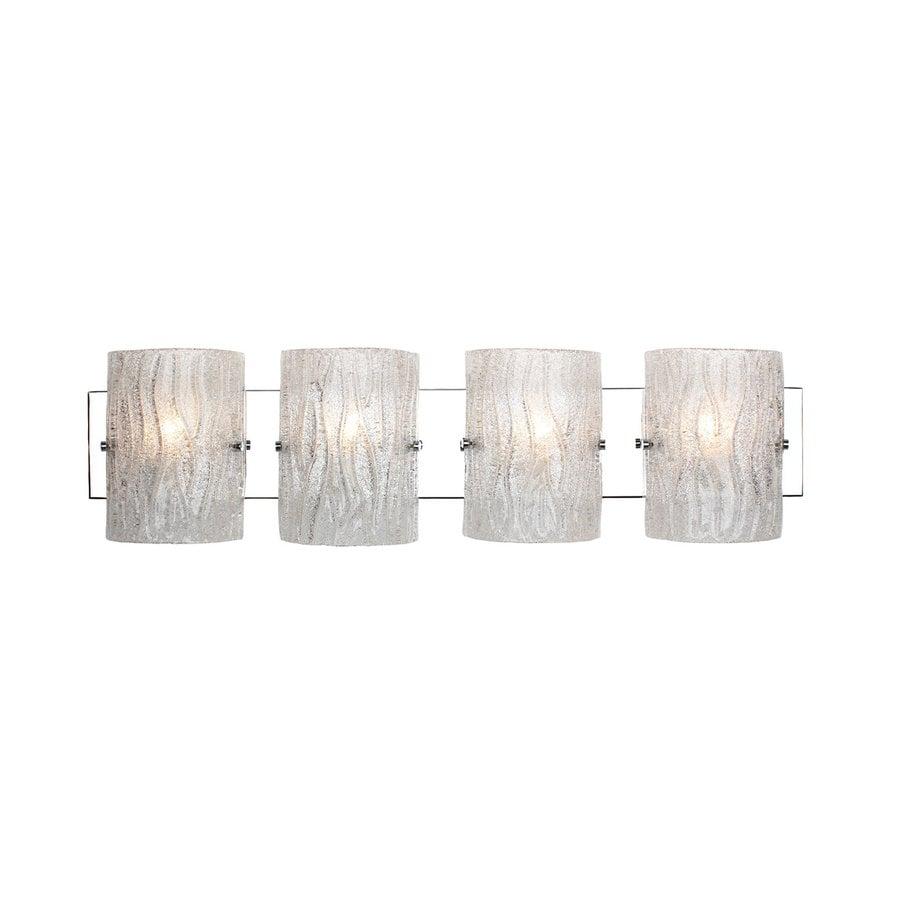 Alternating Current Brilliance 4-Light 8-in Chrome Cylinder Vanity Light