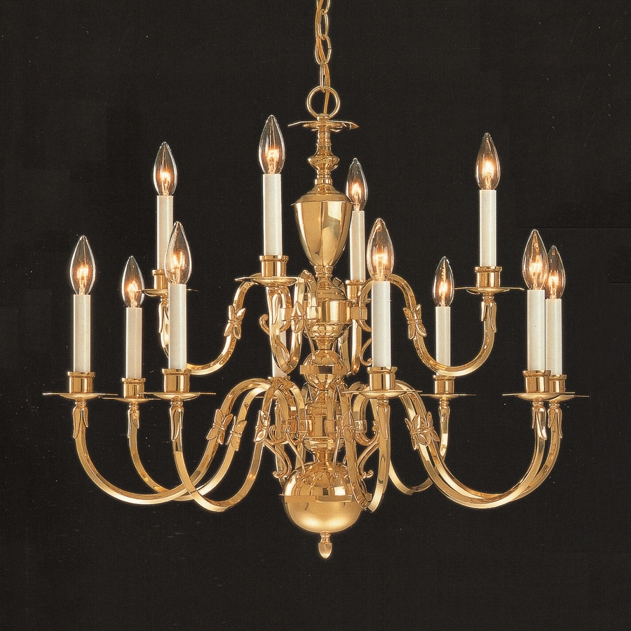 Shop weinstock lighting 12 light polished brass chandelier at weinstock lighting 12 light polished brass chandelier arubaitofo Image collections