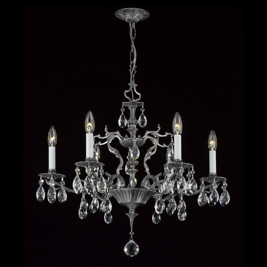 Weinstock Lighting 6 Light Pewter Chandelier At Lowes