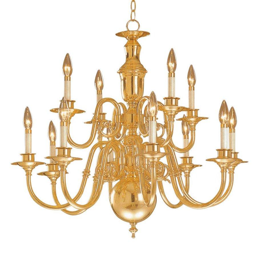 Shop weinstock lighting georgetown 12 light polished brass weinstock lighting georgetown 12 light polished brass chandelier arubaitofo Image collections