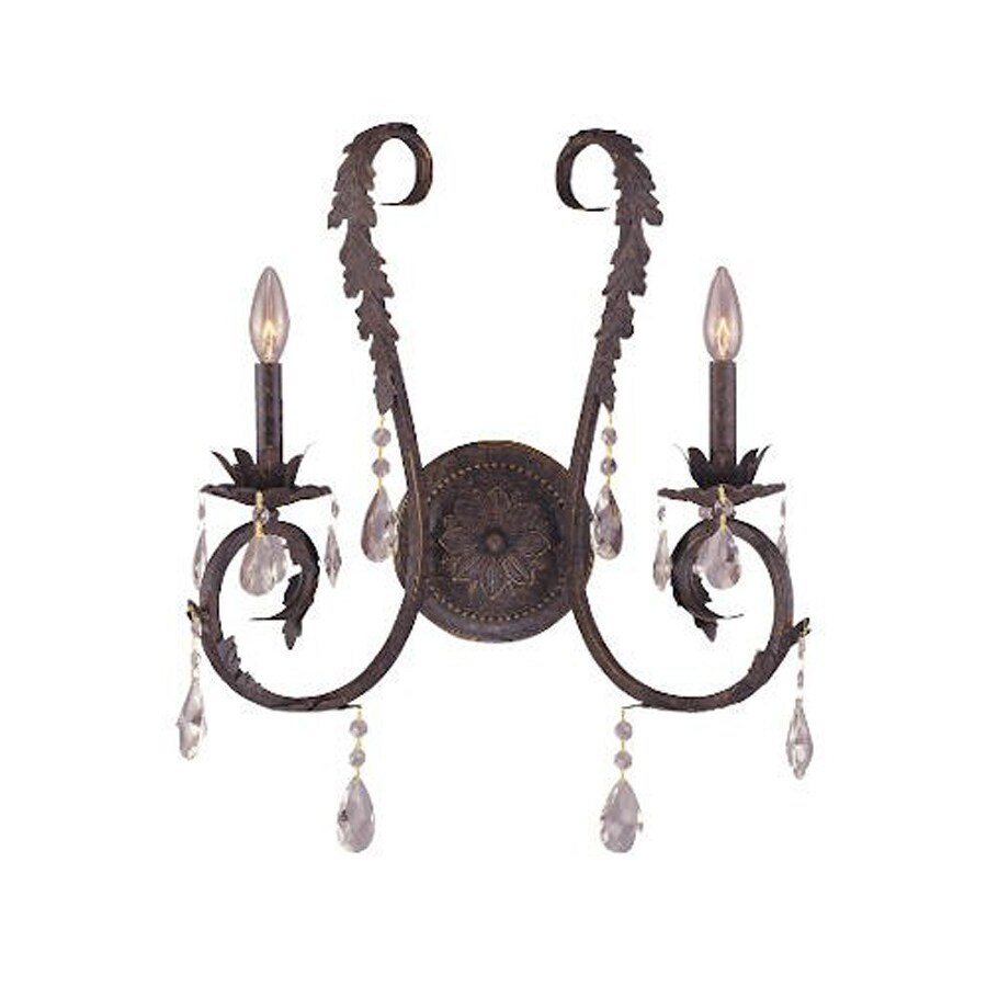 Weinstock Illuminations 16-in W 1-Light Dark Bronze Candle Wall Sconce