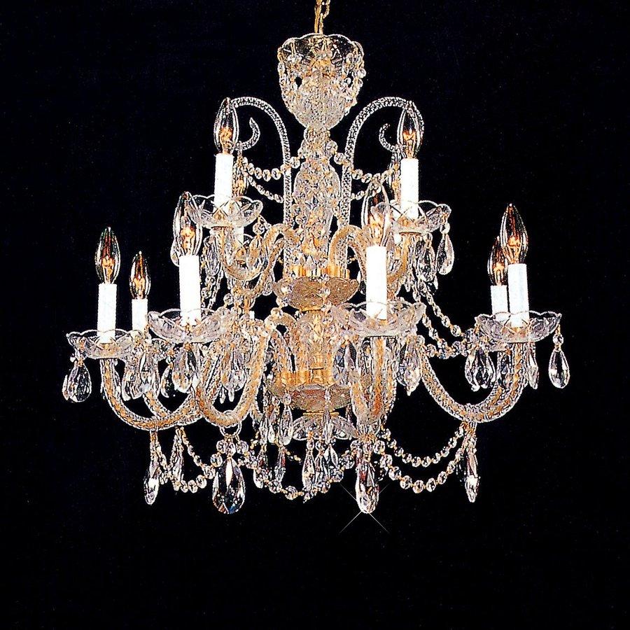 Shop weinstock lighting 12 light gold chandelier at lowes weinstock lighting 12 light gold chandelier arubaitofo Image collections