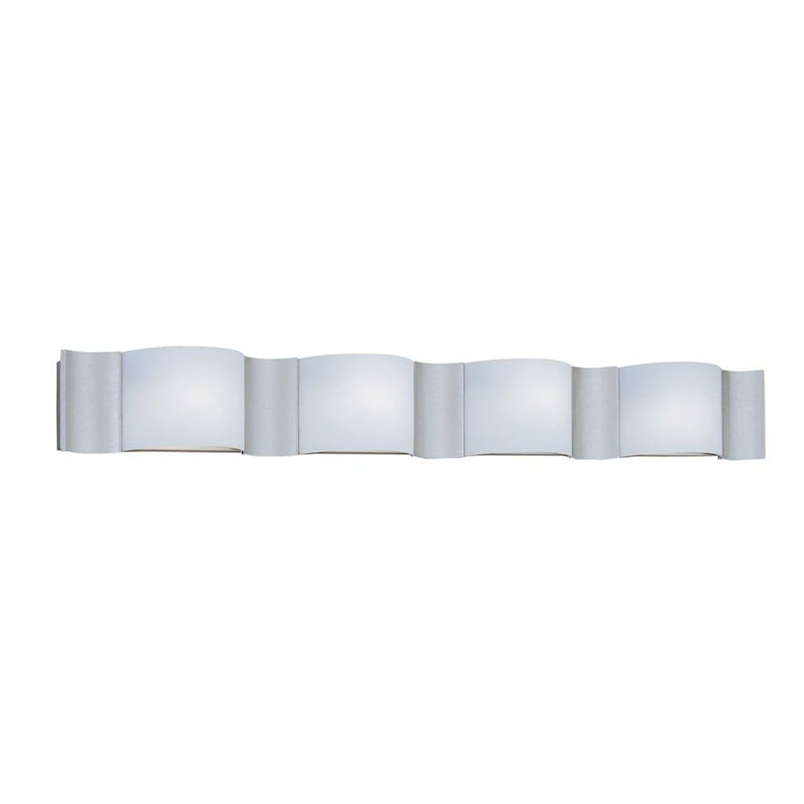 Designer's Fountain Newave 4-Light 5.75-in Silver Sand Rectangle Vanity Light