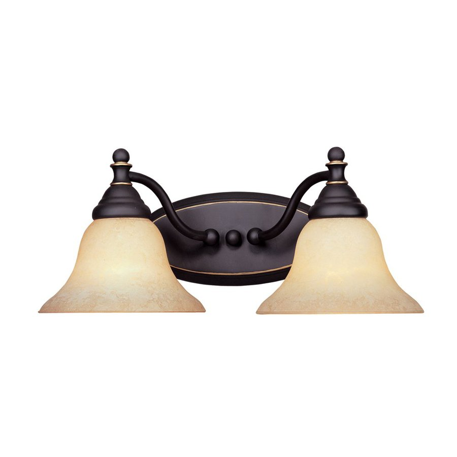 Designer's Fountain Savon 2-Light 7.25-in Aged Bronze Patina Bell Vanity Light