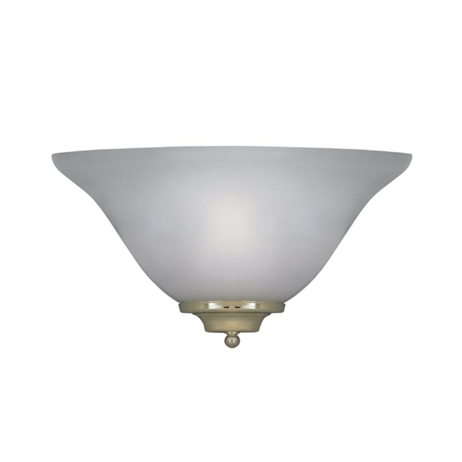 Designer's Fountain 13.25-in W 1-Light Frosted Pocket  Wall Sconce