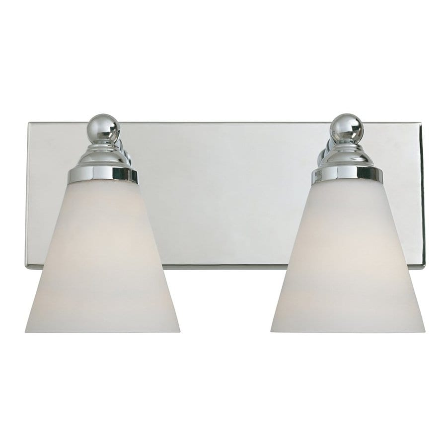 Designer's Fountain Hudson 2-Light 7.5-in Chrome Cone Vanity Light