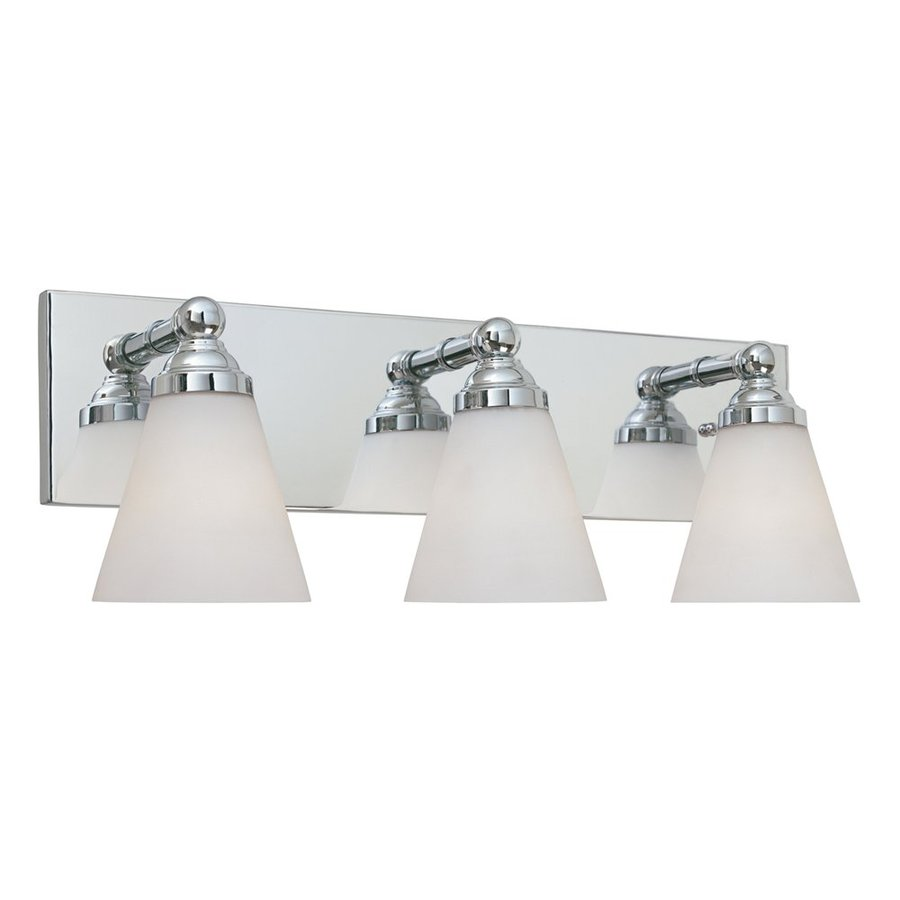 Designer's Fountain Hudson 3-Light 7.5-in Chrome Cone Vanity Light