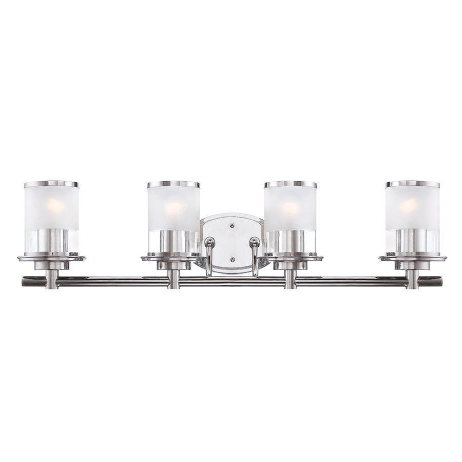 Designer's Fountain Essence 4-Light 8-in Chrome Cylinder Vanity Light