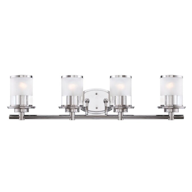 Designers Fountain Essence 4 Light 32 5 In Chrome Cylinder Vanity Light In The Vanity Lights Department At Lowes Com