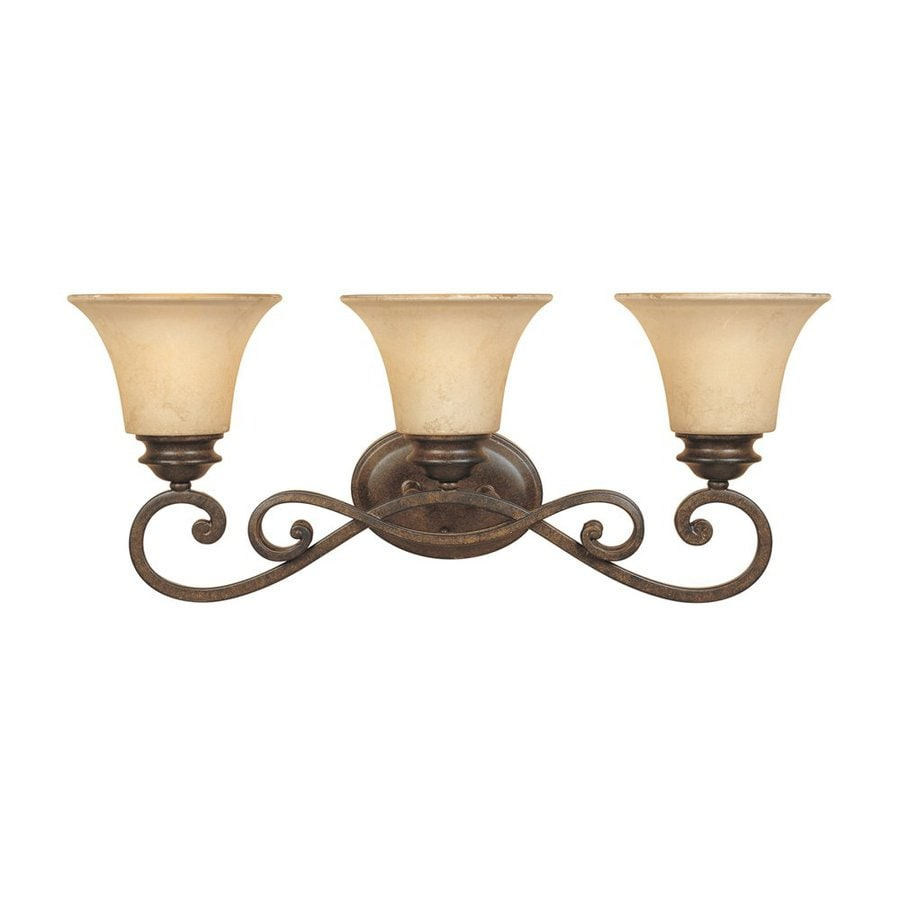 Designer's Fountain Mendocino 3-Light 10.25-in Forged sienna Bell Vanity Light