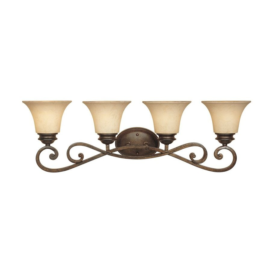 Designer's Fountain Mendocino 4-Light 10.25-in Forged sienna Bell Vanity Light