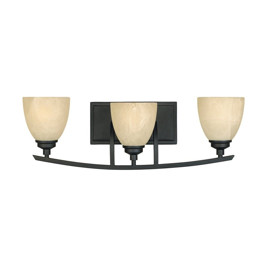 Designer's Fountain Tackwood 3-Light 8-in Burnished bronze Dome Vanity Light