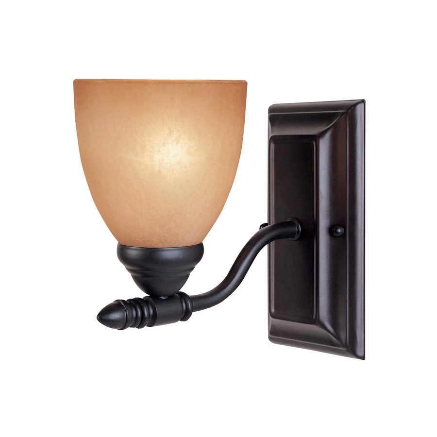 Designer's Fountain Apollo 5-in W 1-Light Oil Rubbed Bronze Arm  Wall Sconce