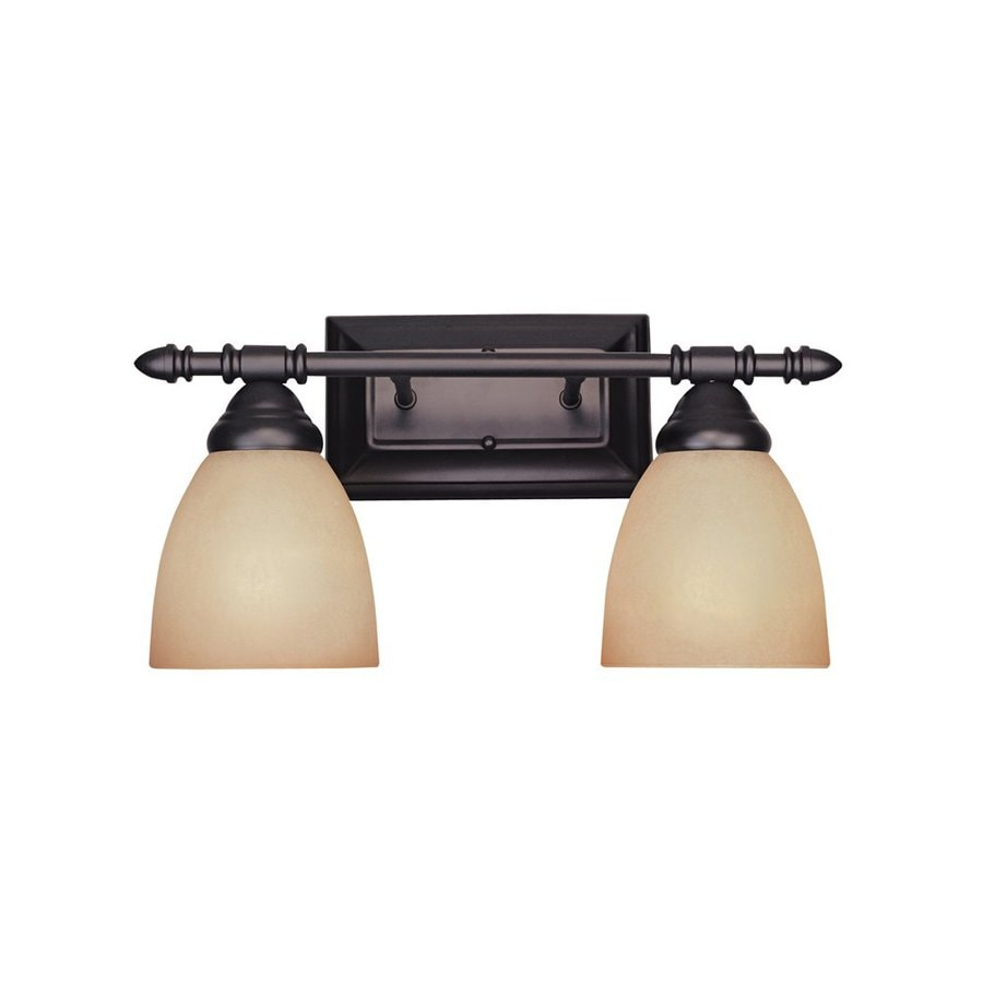 Vanity Lights Oil Rubbed Bronze : Shop Designer s Fountain Apollo 2-Light 8.5-in Oil-Rubbed Bronze Bell Vanity Light at Lowes.com