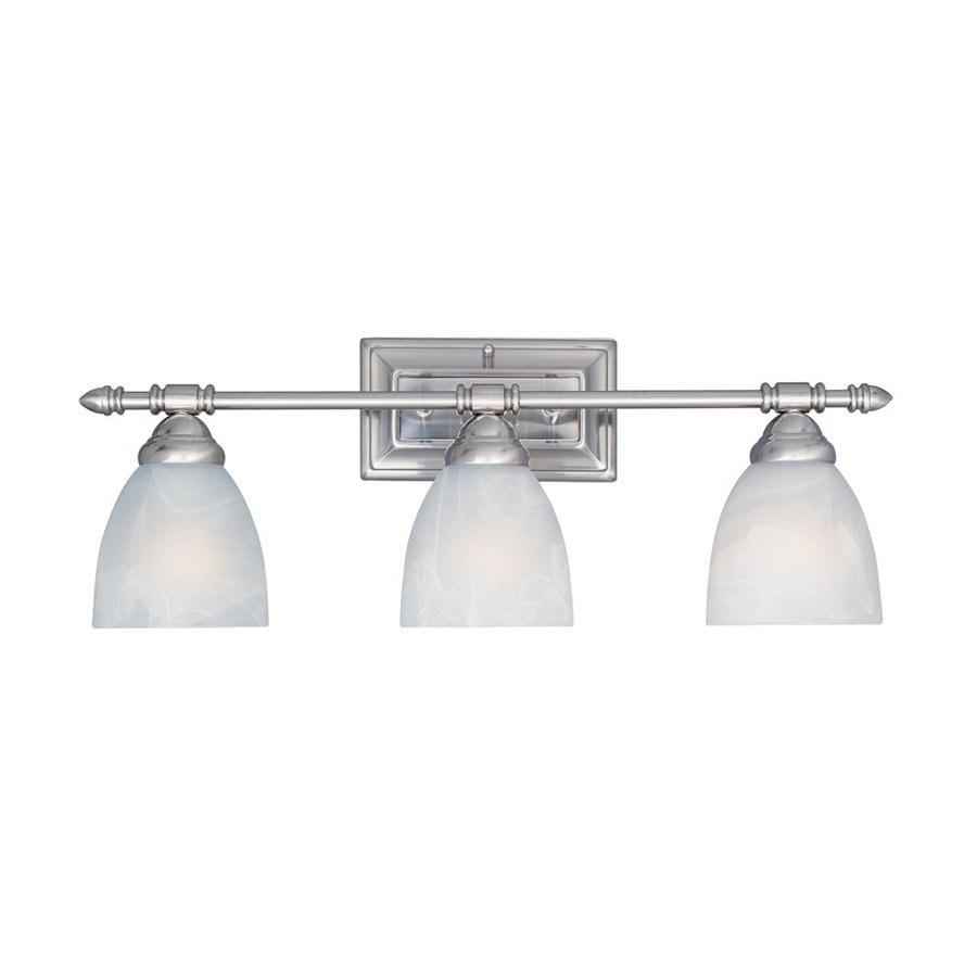 Designer's Fountain Apollo 3-Light 8.5-in Satin Platinum Bell Vanity Light