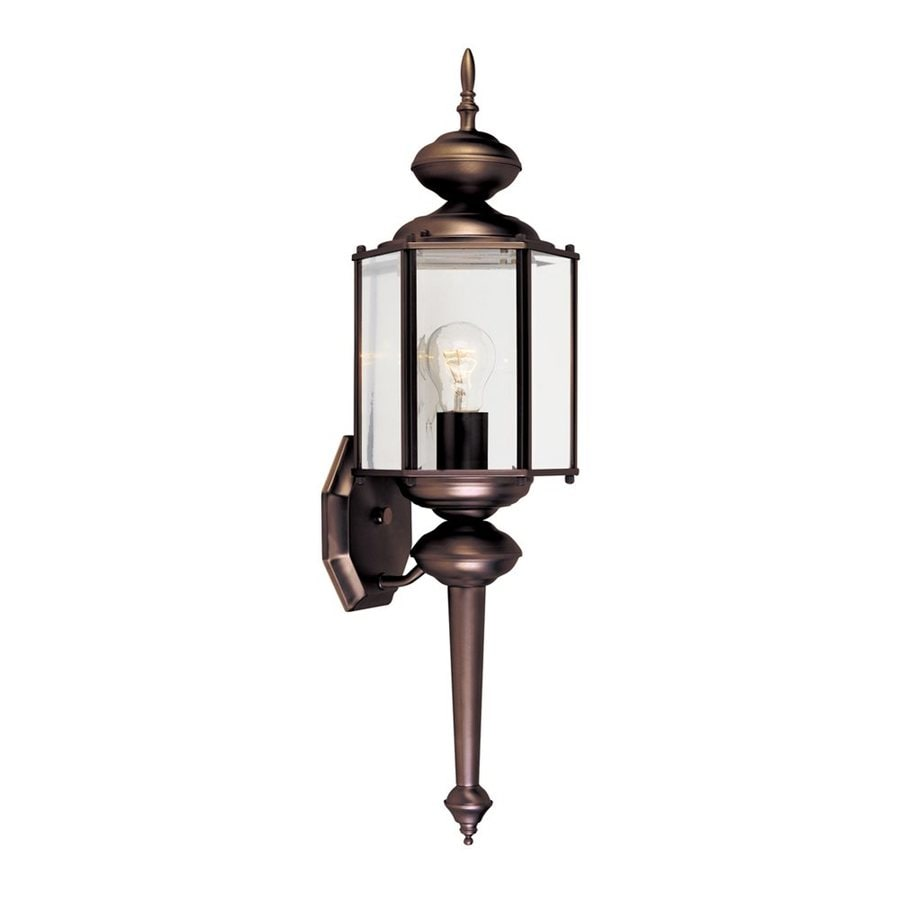 Designer's Fountain 24-in H Distressed Bronze  Medium Base (E-26) Outdoor Wall Light