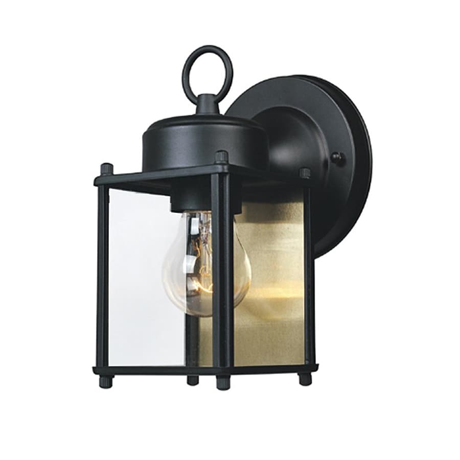 Designer's Fountain 8-in H Black  Medium Base (E-26) Outdoor Wall Light