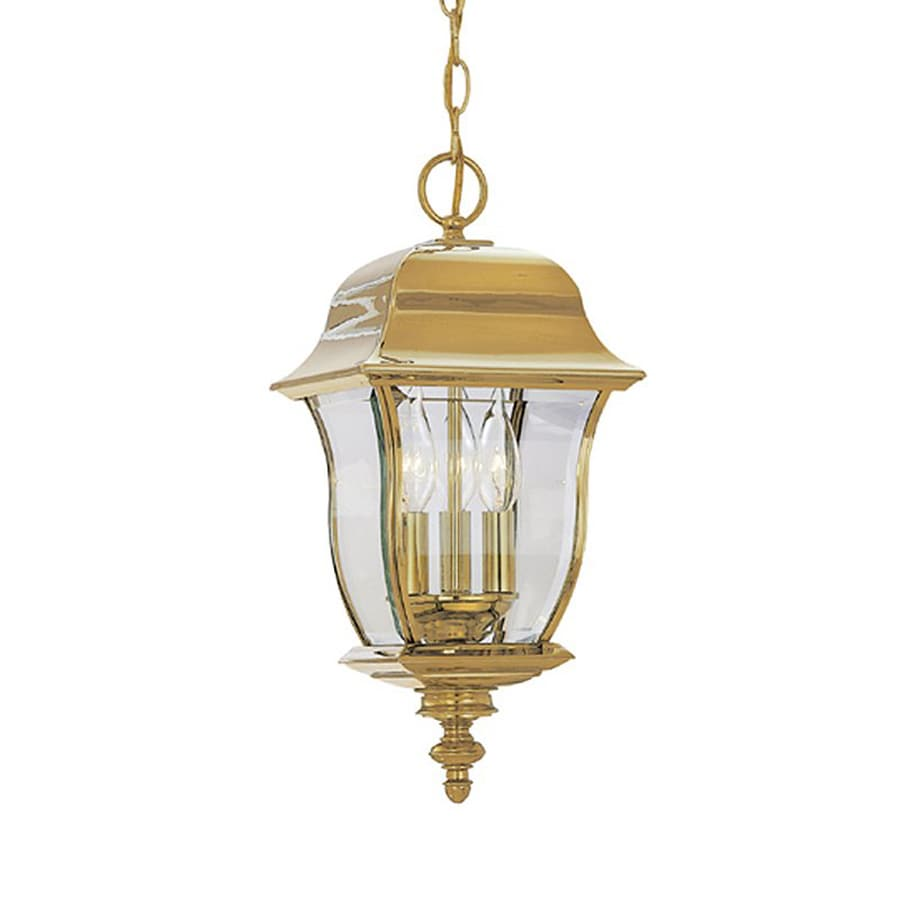 Designer's Fountain Gladiator 21-in Polished Brass Hardwired Outdoor Pendant Light