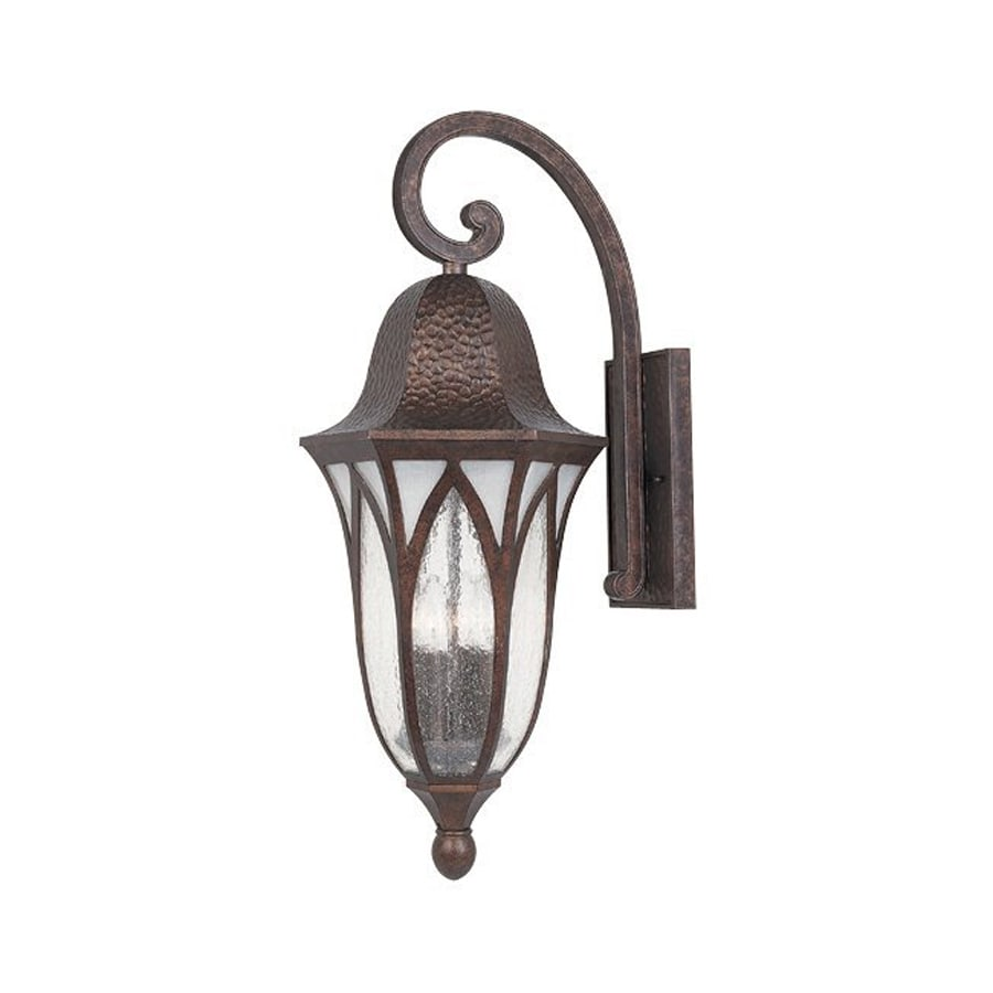 Designer's Fountain Berkshire 27.5-in H Burnished Antique Copper  Candelabra Base (E-12) Outdoor Wall Light