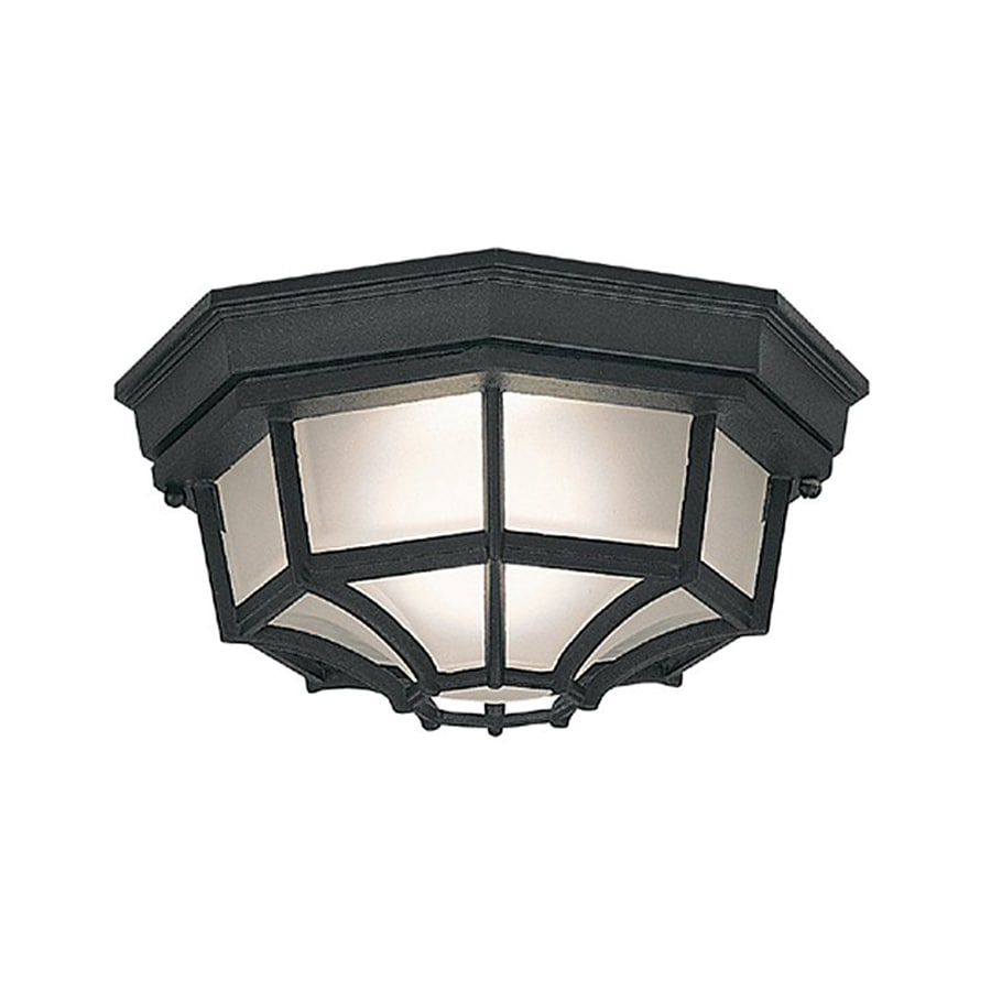 Designer's Fountain Marine Style Lanterns 10.5-in W Black Outdoor Flush-Mount Light