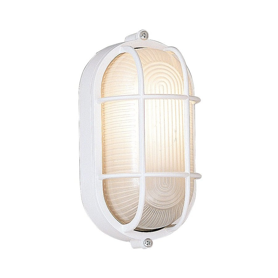 Designer's Fountain Marine Style Lanterns 8.5-in H White Outdoor Wall Light