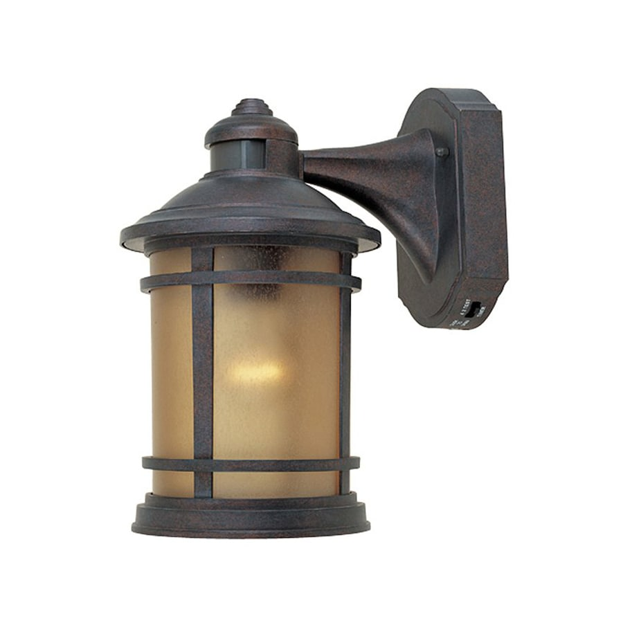 Shop Designer s Fountain Hanover 12-in H Mediterranean Patina Outdoor Wall Light at Lowes.com