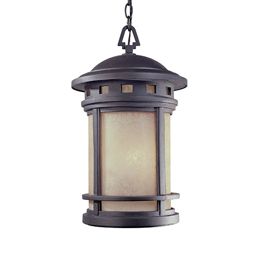 Designer's Fountain Sedona 19-in Oil Rubbed Bronze Hardwired Outdoor Pendant Light