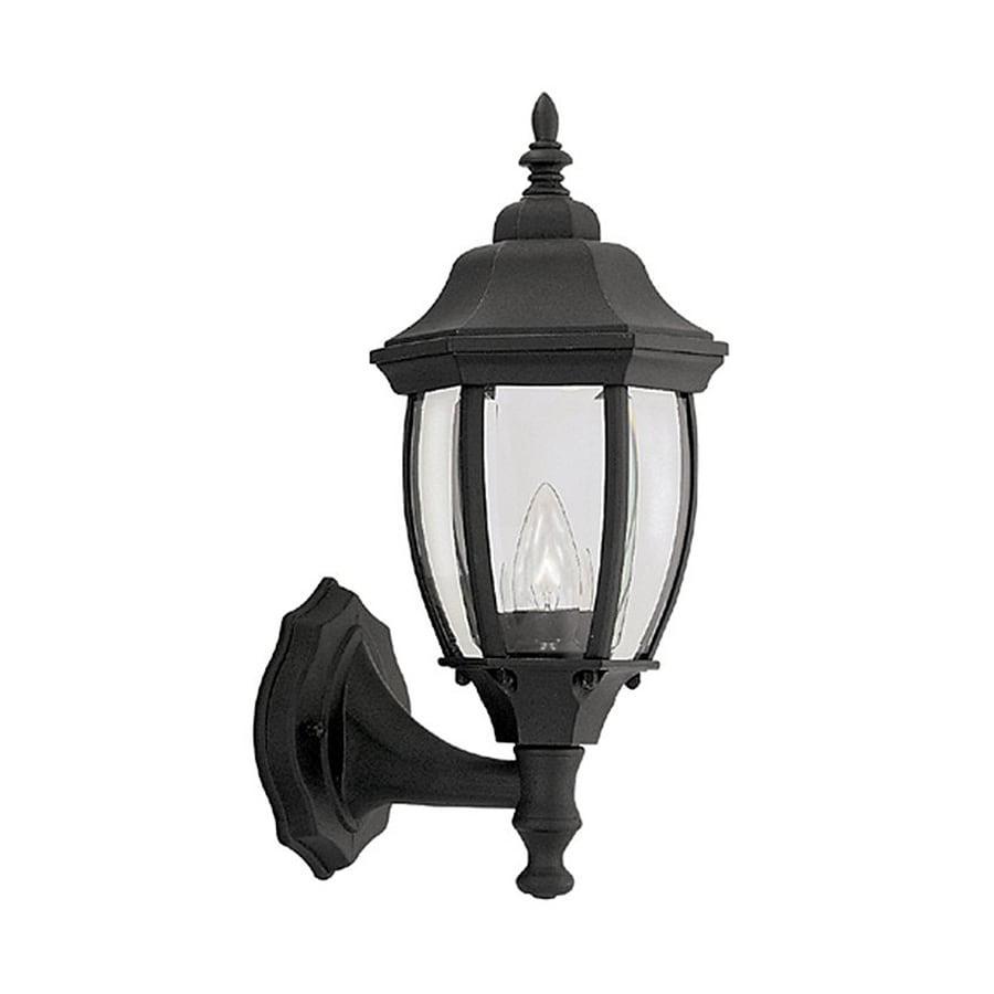 Designer's Fountain Tiverton 14.75-in H Black Outdoor Wall Light